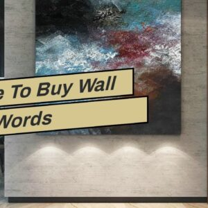 Where To Buy Wall Art Words
