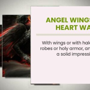 Angel Wings With Heart Wall Art