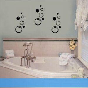 Bathroom Art Navy Blue