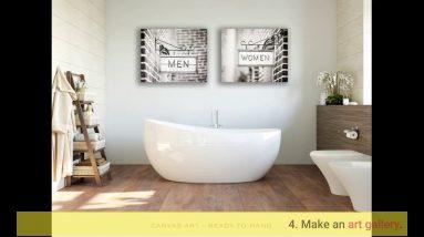 Farmhouse Bathroom Canvas Art